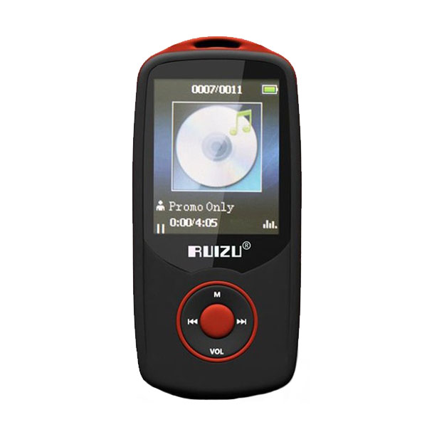 RUIZU X06 Bluetooth Sports MP3 Music Player with 4GB 1.8 Inch Screen - Red