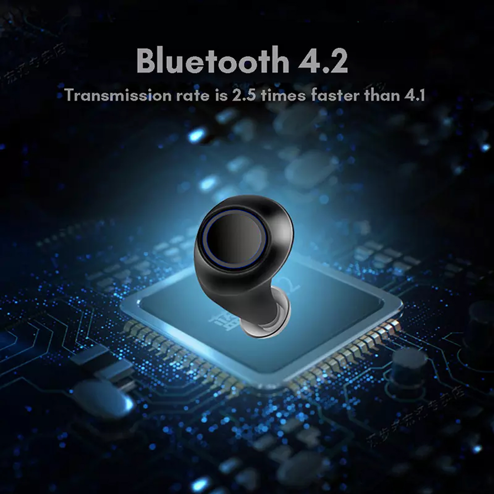 True Wireless S2 Bluetooth Headset With Charging Case - Black