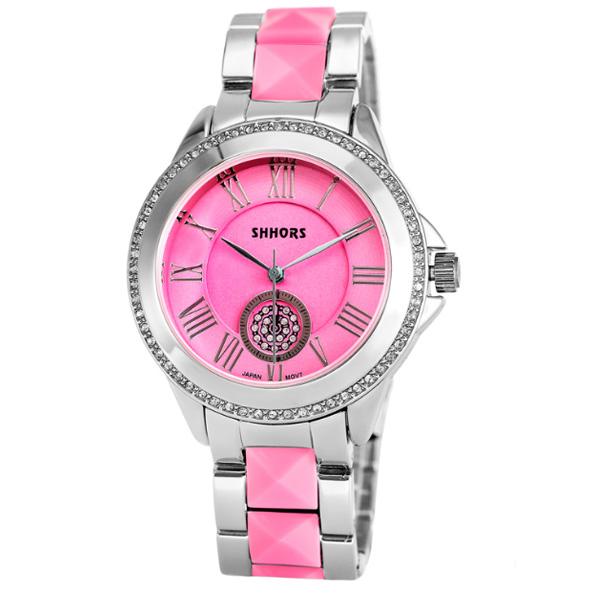 Shhors SH-A0012 Women Steel Casual Watch - Pink