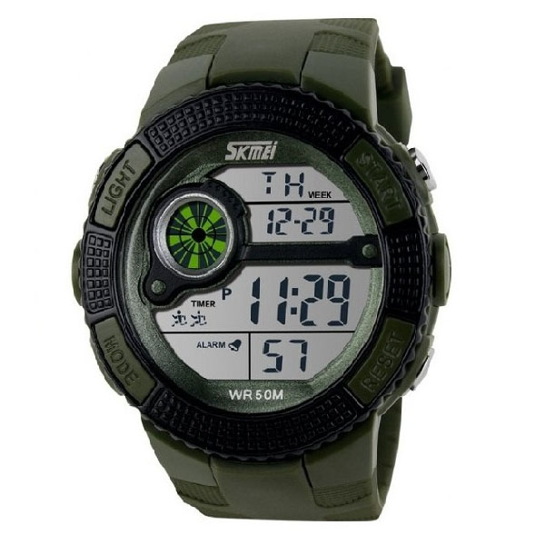 50M Waterproof Digital Chronograph Watch With Timer - Green