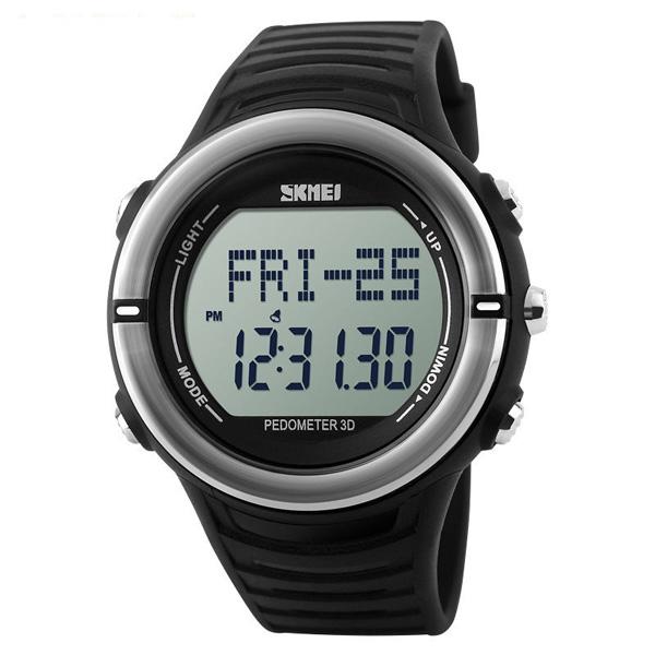 50M Waterproof Heart Rate Monitor Pulse Watch - Black