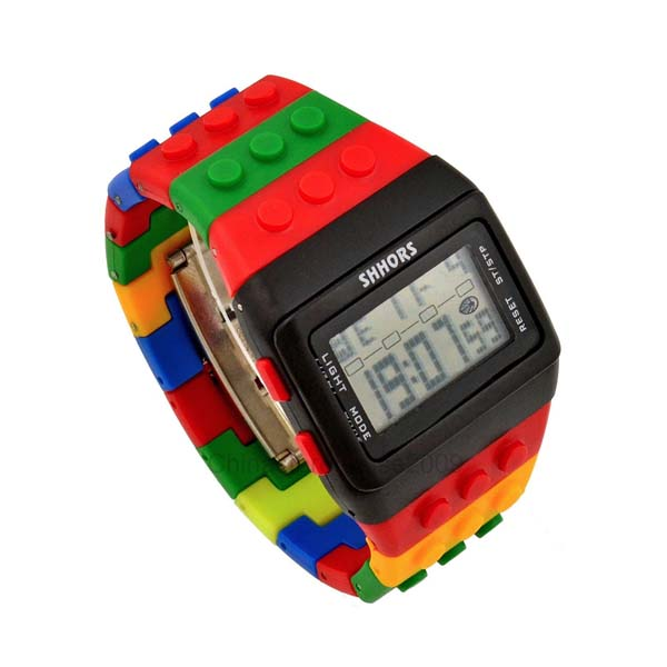 Shhors Minecraft and Digital Wrist Watch - Black, Black and Red