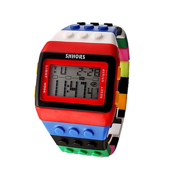 Shhors Minecraft Digital Wrist Watch - Red and Black