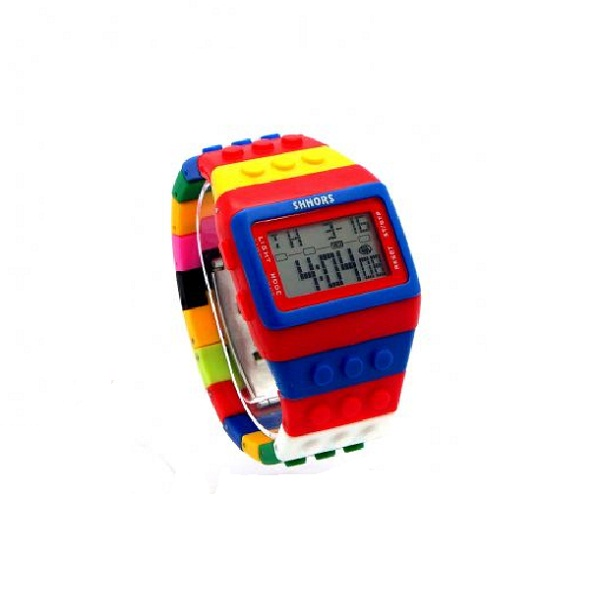 Shhors Minecraft Digital Wrist Watch - Red and Blue