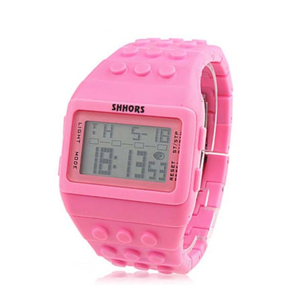 Shhors Minecraft  Digital Wrist Watch - Pink