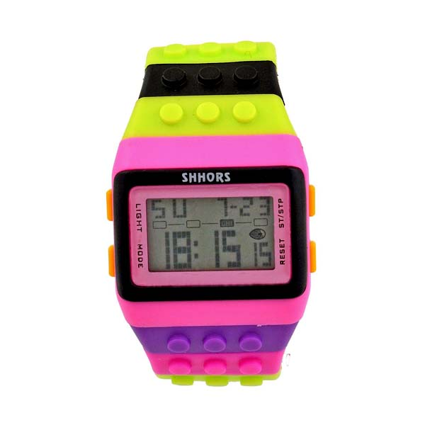 Shhors Minecraft  Digital Wrist Watch - Pink and Black