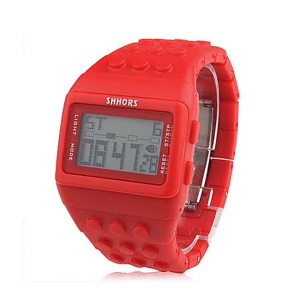 Shhors Minecraft Digital Wrist Watch - Red