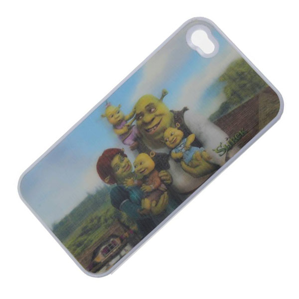 Shrek 3D Protective case for Iphone 4/4s - White
