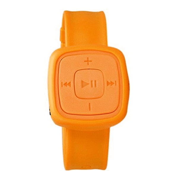 Silicone Watch Design Card Reader MP3 Player - Orange