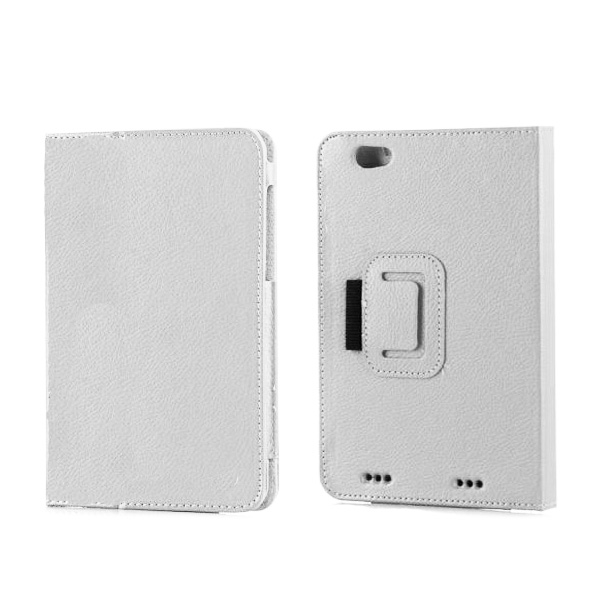 Smart Cover Leather Case For Lenovo A5000 - White