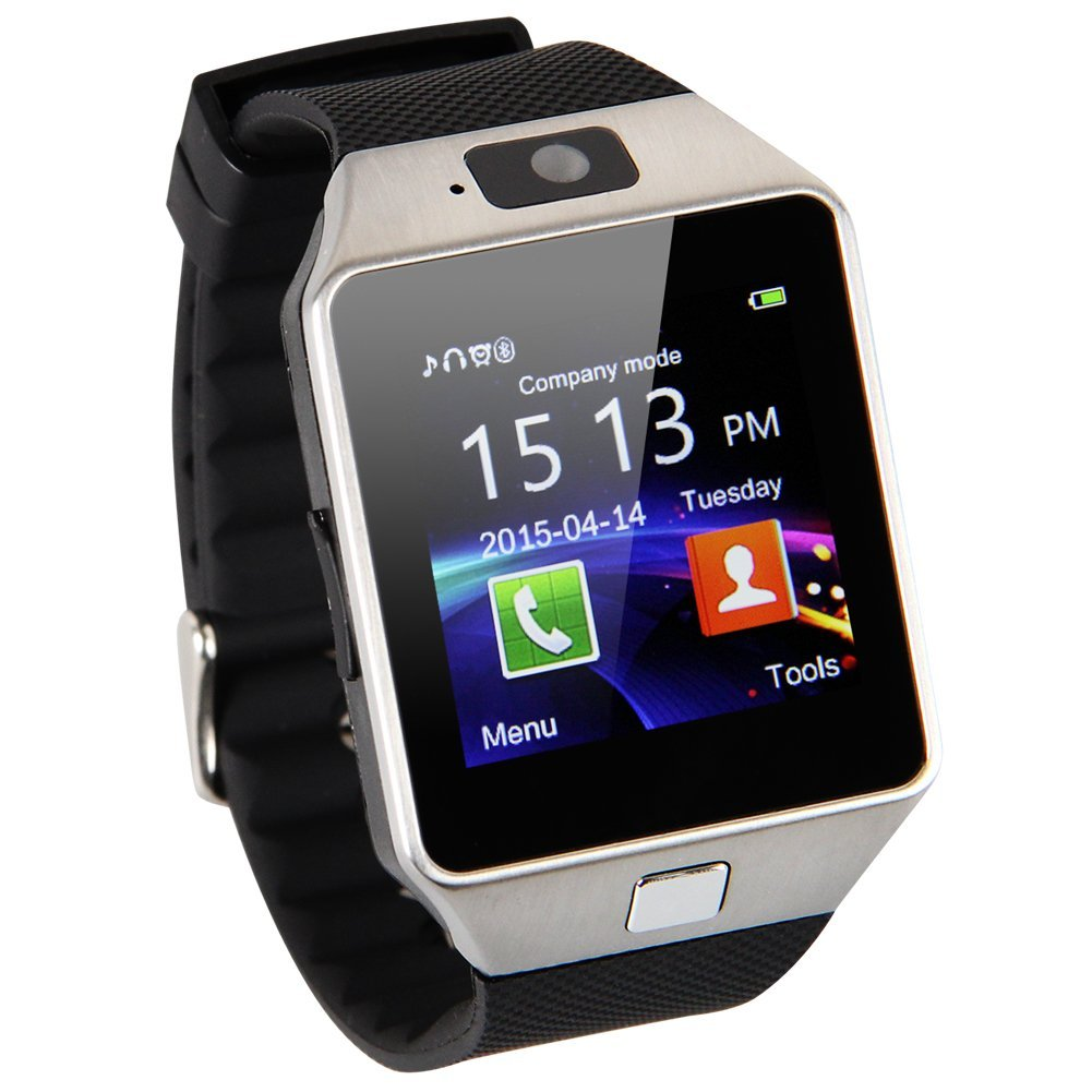 Smart Watch Phone With Sim Card Slot- Black