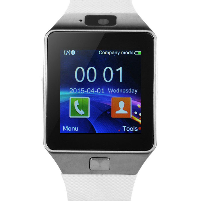 Smart Watch Phone With Sim Card Slot - White
