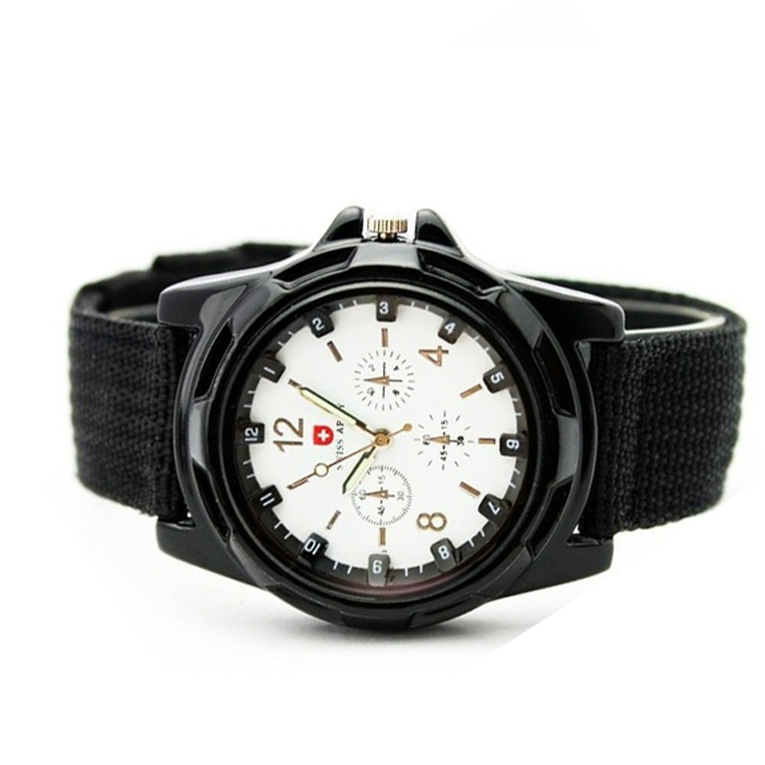 Analog Army Watch - White