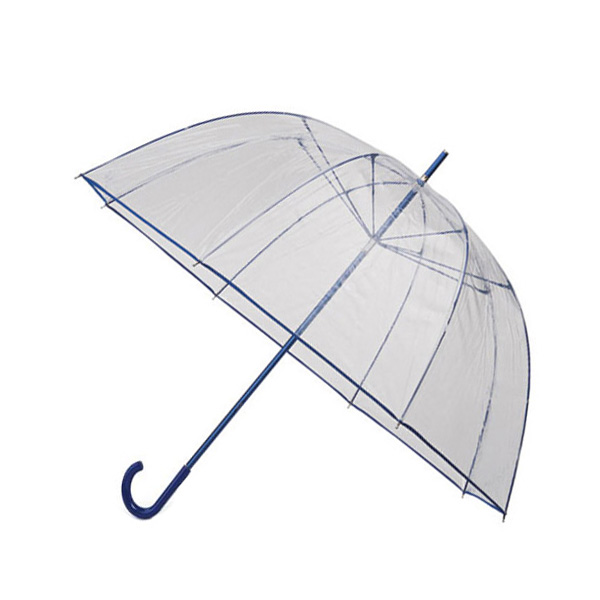 Transparent Dome Umbrella - Blue