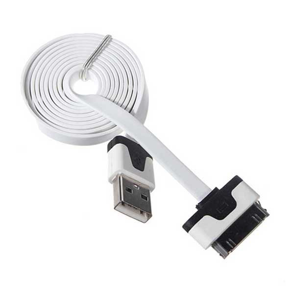 USB Data Charger Cable For iPad /iPhone /iPod  - White/Black