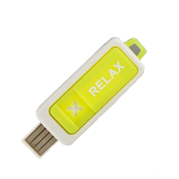 USB SPA Fragrance Diffuser Oil Burner Air Freshener - Neon Yellow