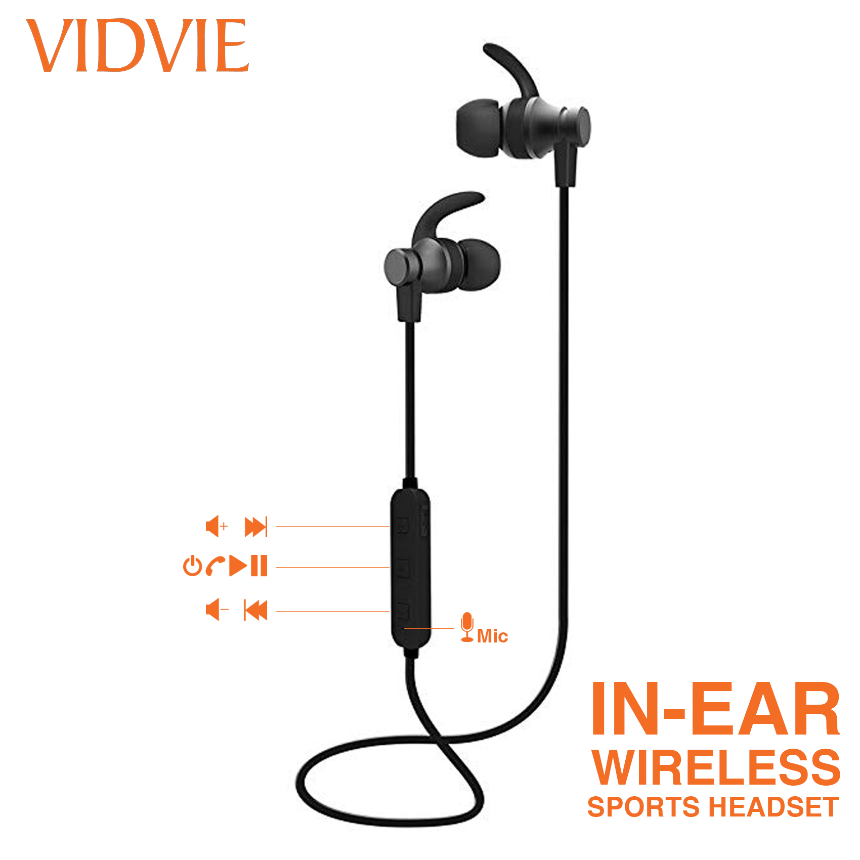 Vidvie Sports Wireless Headset - Black