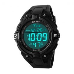 50M Water Resistant Sports Watch - Black