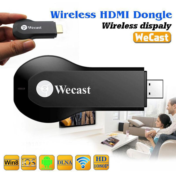 Wecast Wireless HDMI Dongle Wifi Receiver - Black