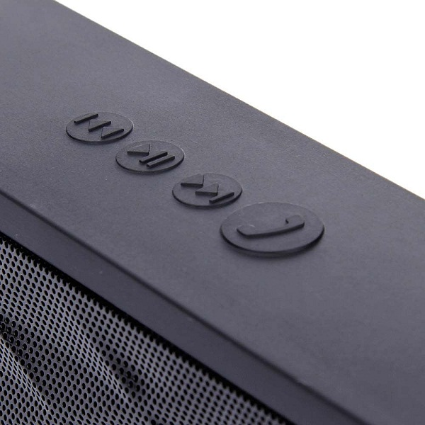 Wireless Bluetooth Boombox Mini Speaker with Microphone - Black