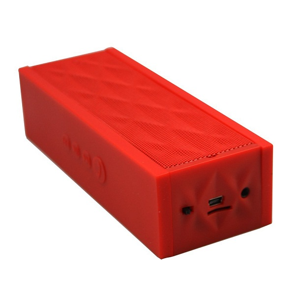 Wireless Bluetooth Boombox Mini Speaker with Microphone - Red