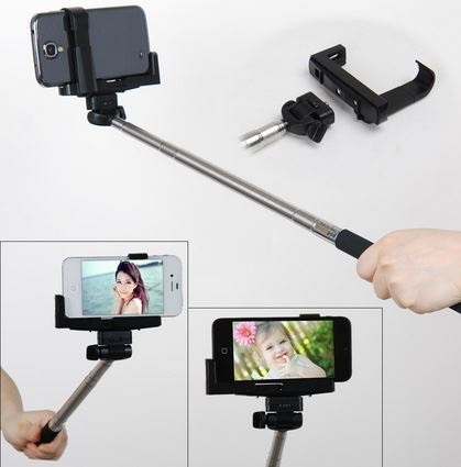 Wireless Bluetooth Shutter Monopod for Android - Expandable 23 cm to 100 cm