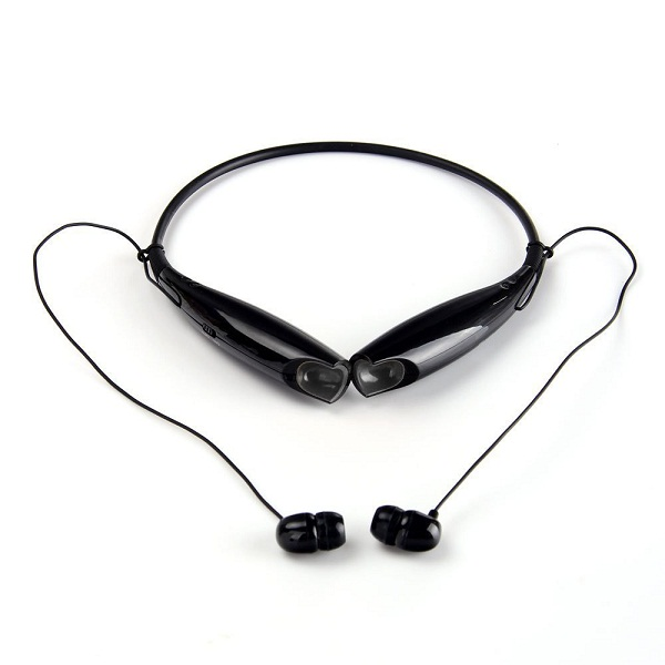 Wireless Bluetooth Stereo Headset Neckband Style Sports Headphones - Black