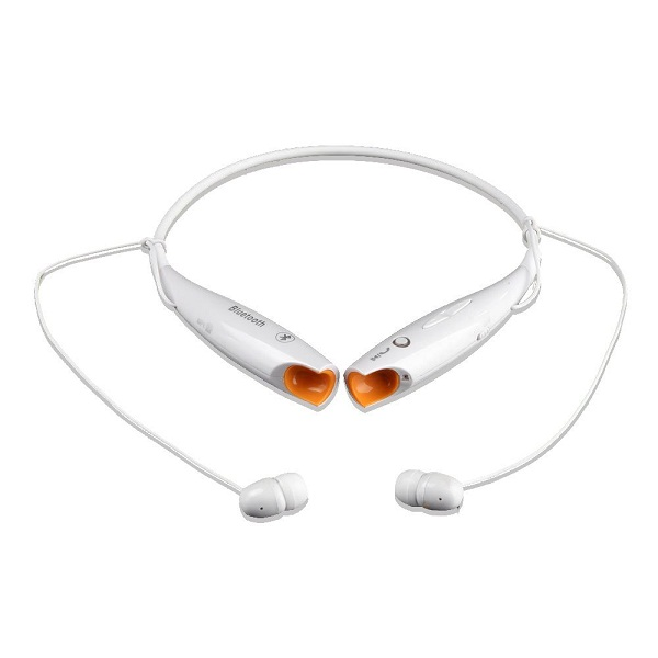Wireless Bluetooth Stereo Headset Neckband Style Sports Headphones - White