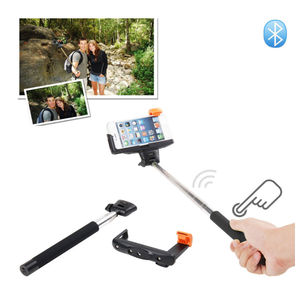 Wireless Monopod With Build In Bluetooth Shutter for IOS and Android - Black