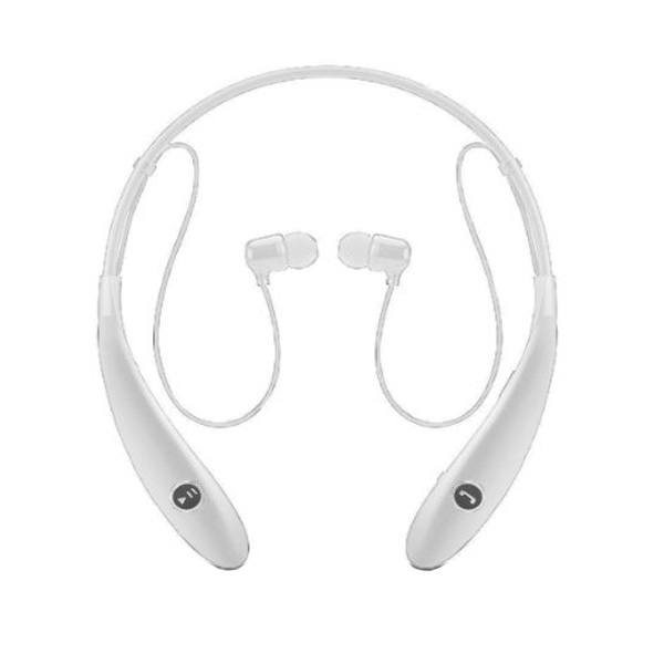 Bluetooth 4.0 Sports Neckband Stereo Headset - White