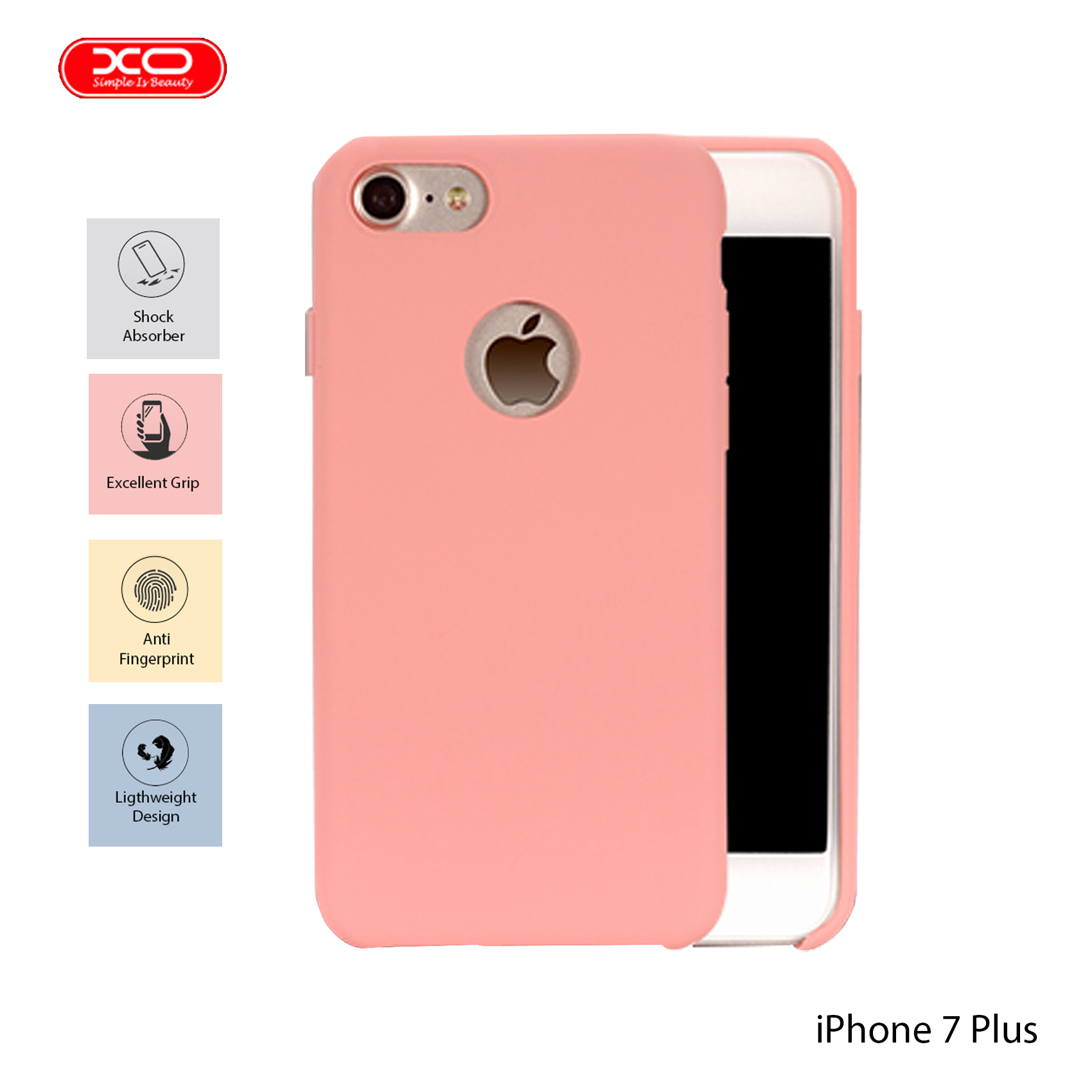 XO Magnetic Silicone Case for iPhone 7 Plus - Pink