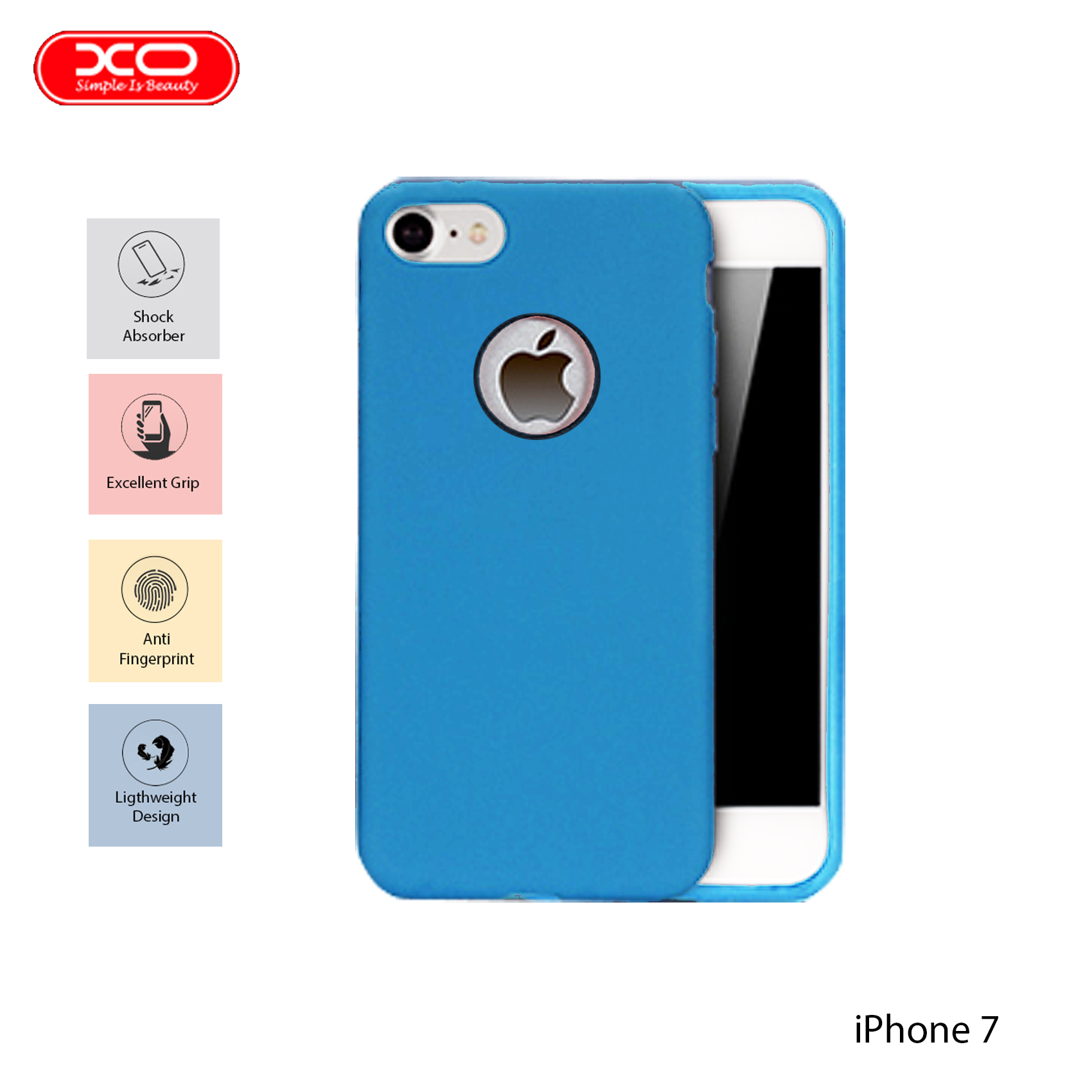 XO Magnetic Silicone Case for iPhone 7 - Blue