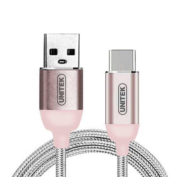 Unitek 1 Meter Type-C Data Charging Cable - Rose Gold