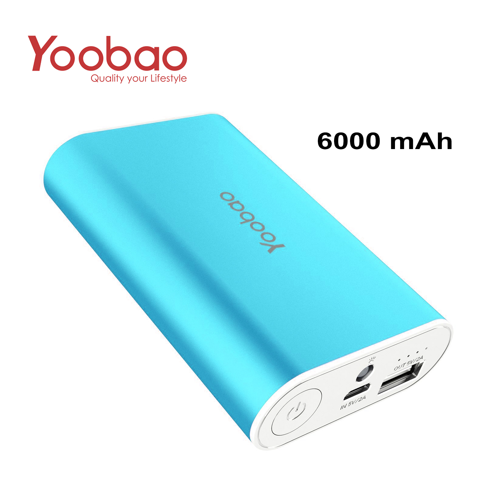 YOOBAO Intelligent Power Bank S3 6000mAh Portable Charger - Blue