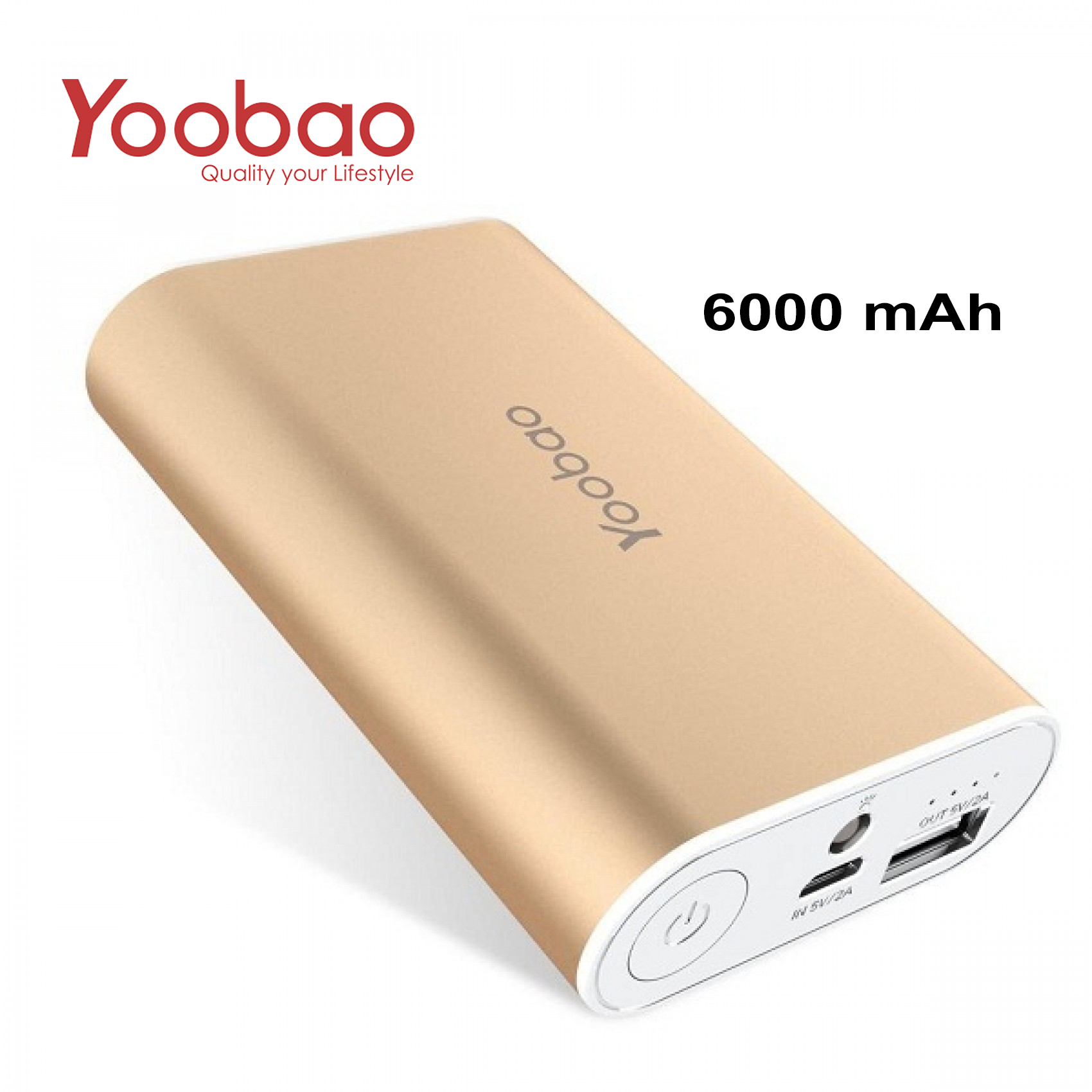 YOOBAO Intelligent Power Bank S3 6000mAh Portable Charger - Gold