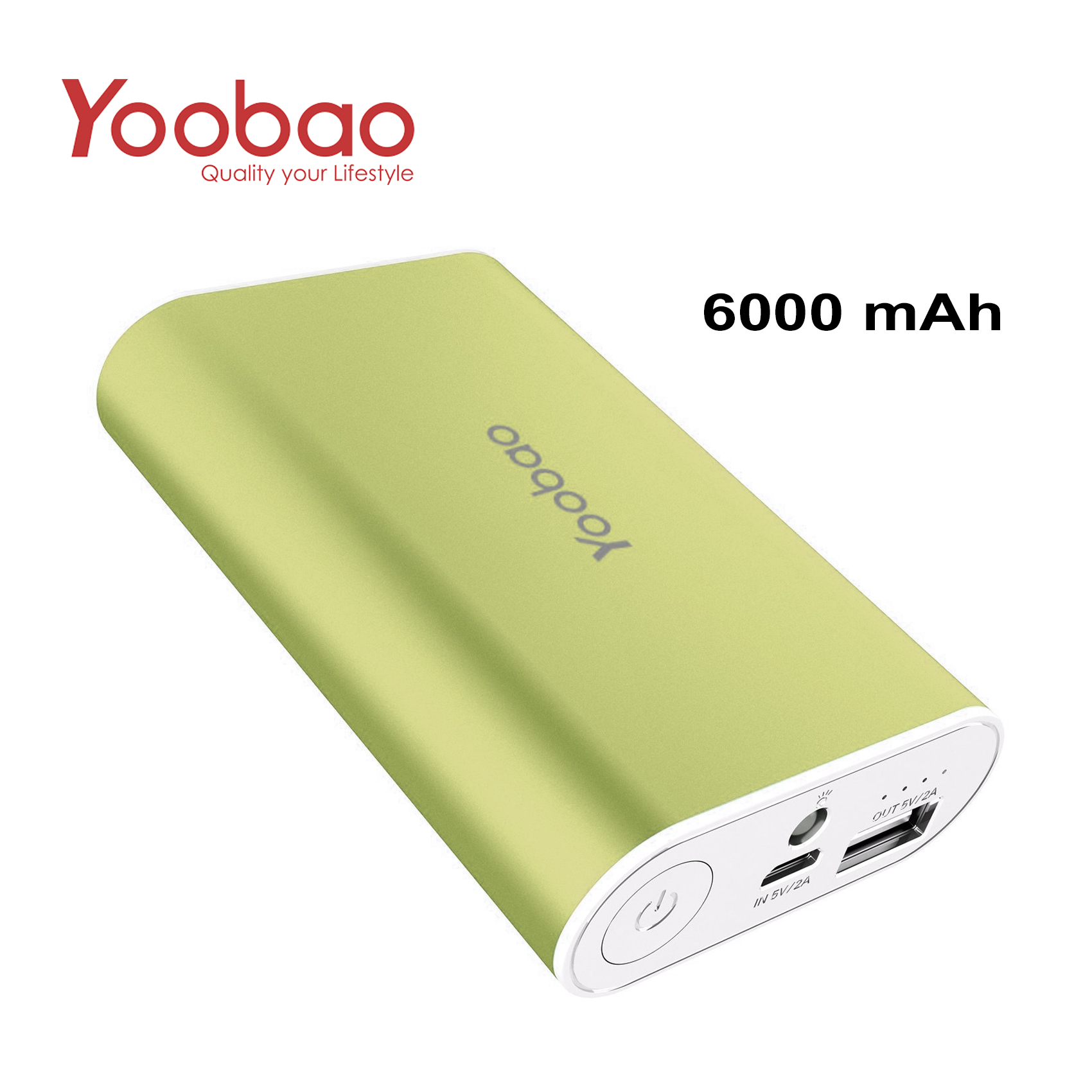 YOOBAO Intelligent Power Bank S3 6000mAh Portable Charger - Green