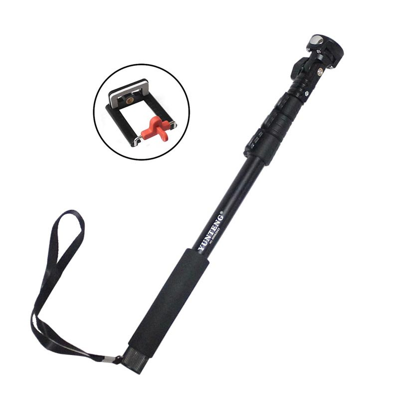 46cm-126cm Handheld Monopod With Stage Lock for Smart Phone And Camera - Black