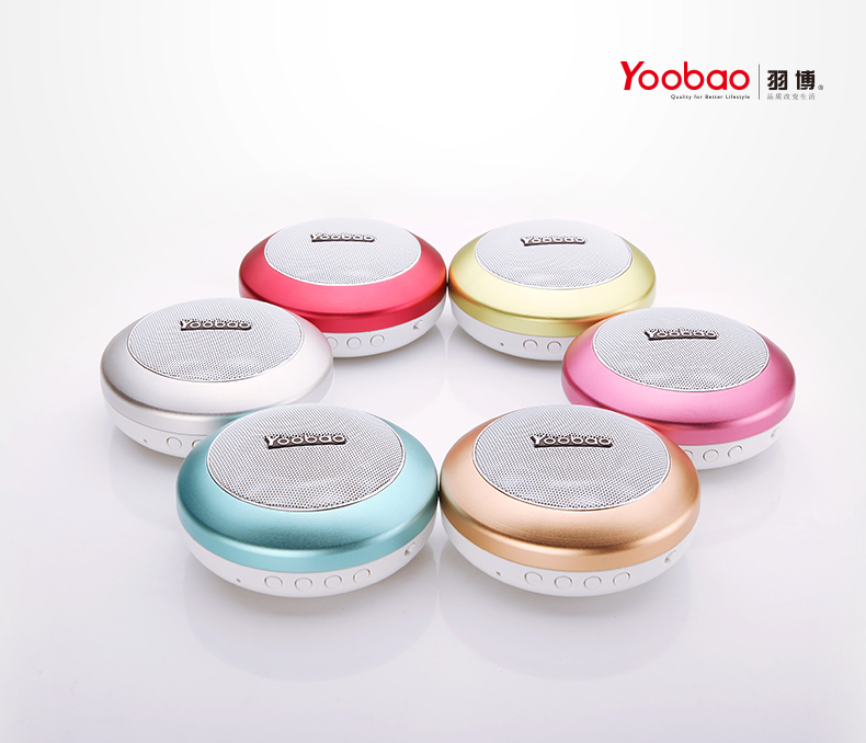 Yoobao YBL-201 Wireless Bluetooth 3.0 Mini Portable Speaker With Micro SD Card Slot - Blue