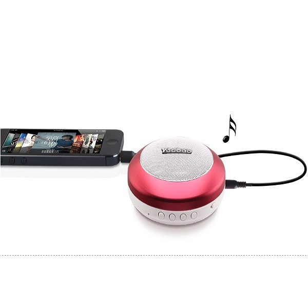 Yoobao YBL-201 Wireless Bluetooth 3.0 Mini Portable Speaker With Micro SD Card Slot - Pink