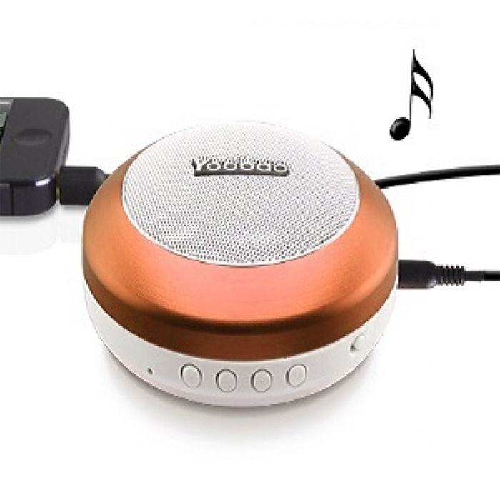 Yoobao YBL-201 Wireless Bluetooth 3.0 Mini Portable Speaker With Micro SD Card Slot - Bronze