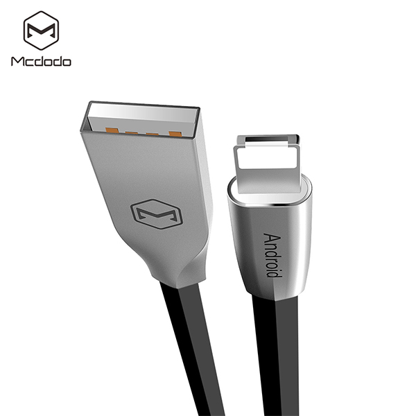 Mcdodo  1 Meter Reversible Lightning and Micro USB Data Cable - Black