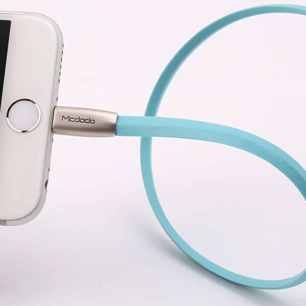 Mcdodo 2 Meter Type-C Zinc Alloy Rhombus Flat Data Charging Cable - Blue