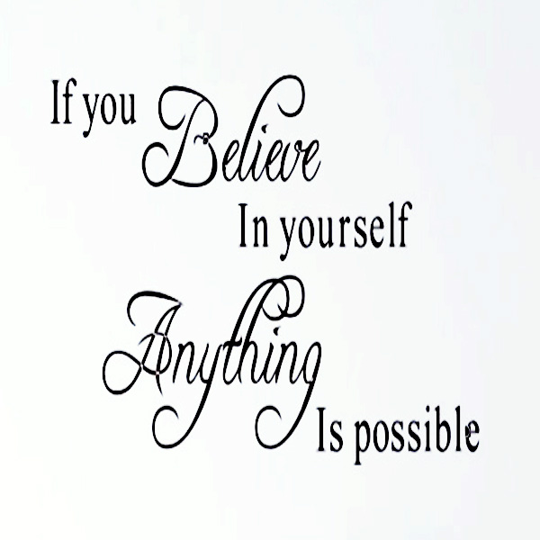 Believe In Yourself Creative Quote Wall Decals Sticker