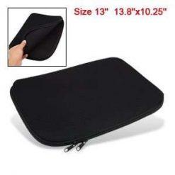 Black Dual Zipped Neoprene Sleeve for 13.3 inch Laptops / Notebooks