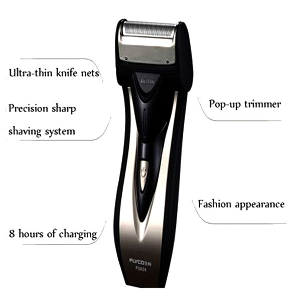 Flyco Reciprocating Razor Rechargeable Shaver - Black