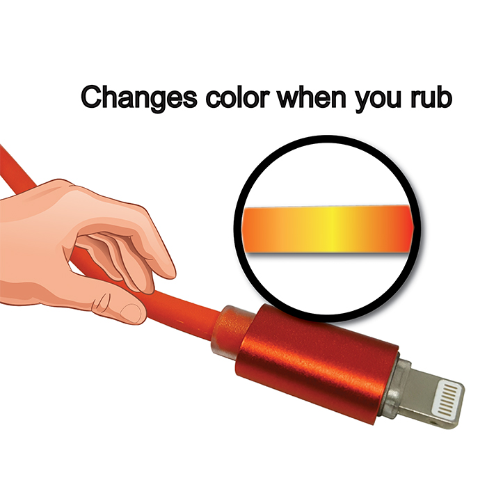 Kucipa K160 Touch Sensitive Fast Charge Lightning Cable - Red