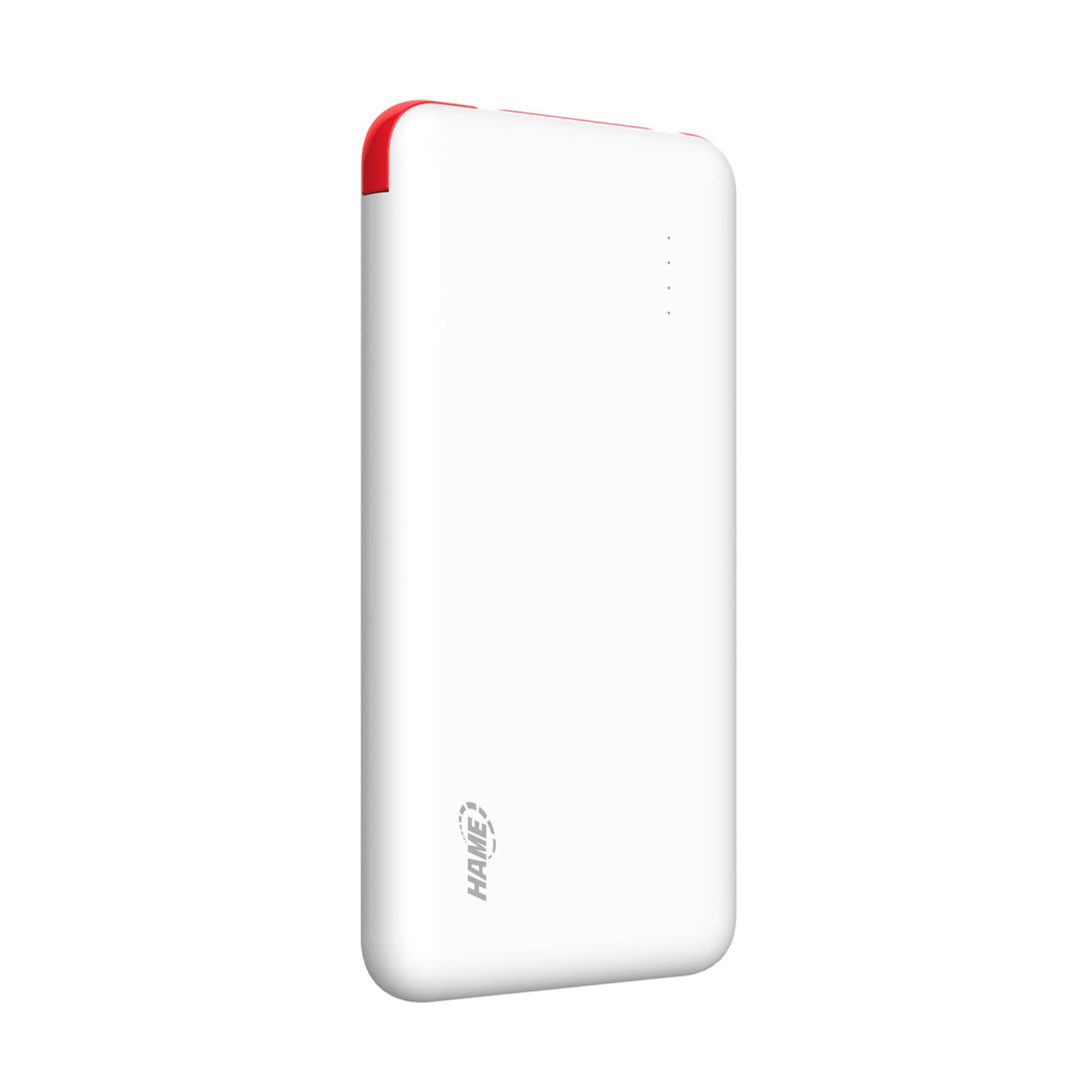 10000 mah Slim Lithium Polymer Hame Powerbank With Charging Cable Slot - Red
