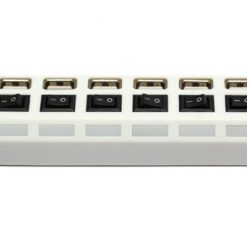 7 Port Hi-Speed USB 2.0 SUPER HUB - White