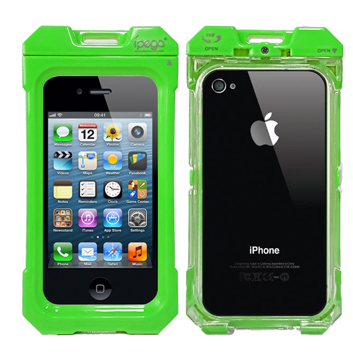 iPega Waterproof Protective Case for iPhone 4/4s - Green