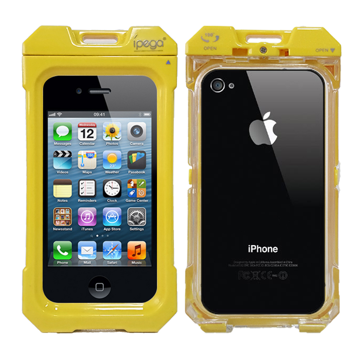 iPega Waterproof Protective Case for iPhone 4/4s - Yellow